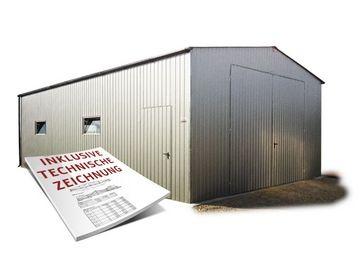 Fertiggarage blech  Blechgaragen, Garagen, Mehrzweckhalle, Unterstellplatz für Auto ...