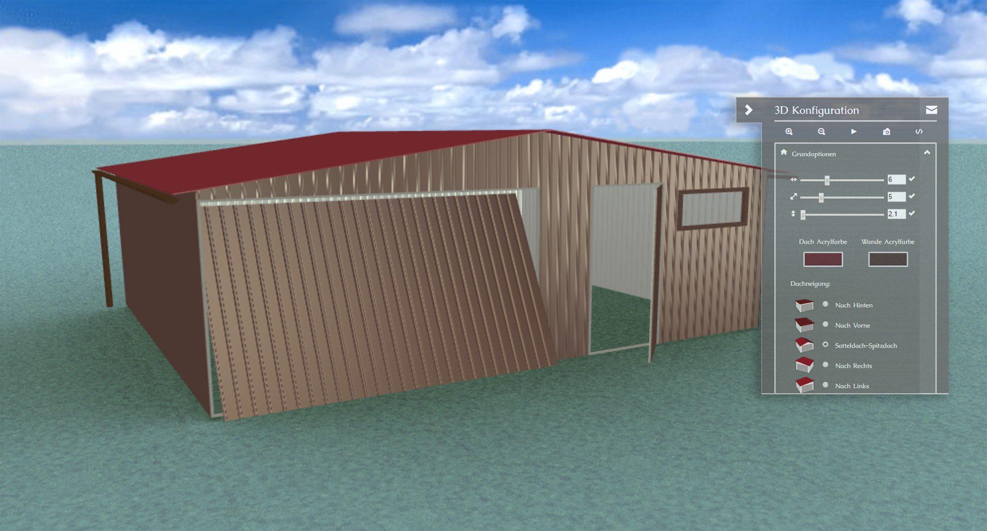 Fertiggarage 6x6m blechgaragen garagen mehrzweckhalle unterstellplatz für auto